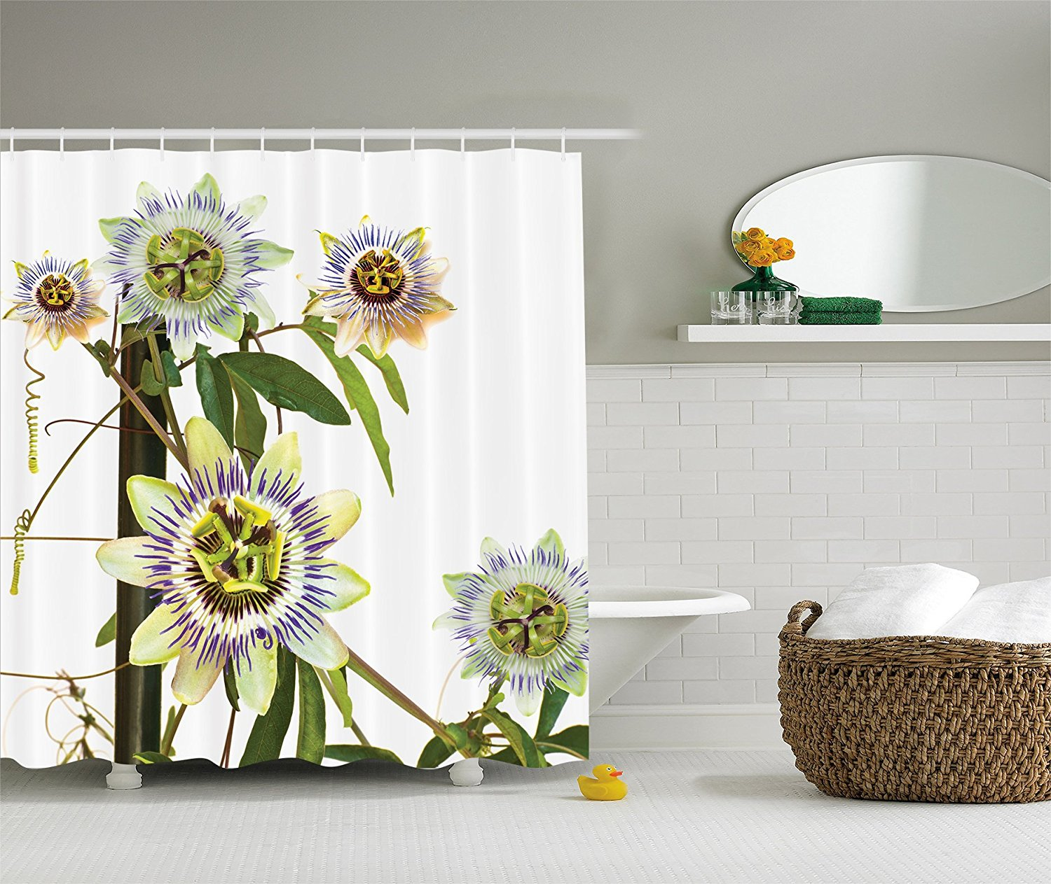 Us 10 98 6 Off Roses Bouquet Romance Holiday Love Anniversary Luxury Ornament Decorating Picture Polyester Fabric Bathroom Shower Curtain In Shower