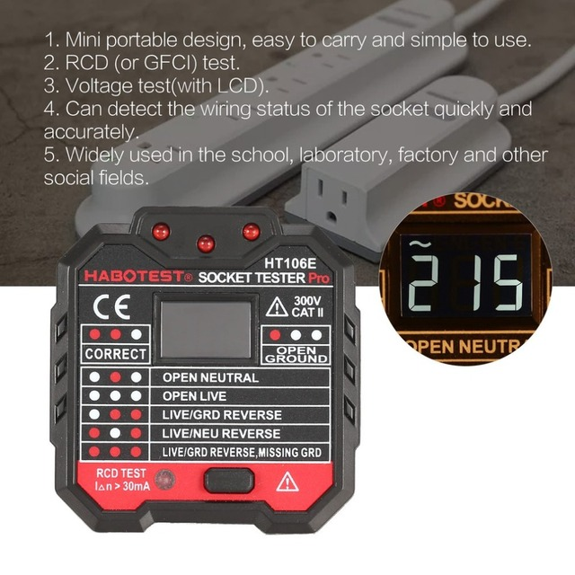 Tremendous Socket Outlet Tester Circuit Polarity Voltage Detector Wall Plug Wiring Cloud Favobieswglorg