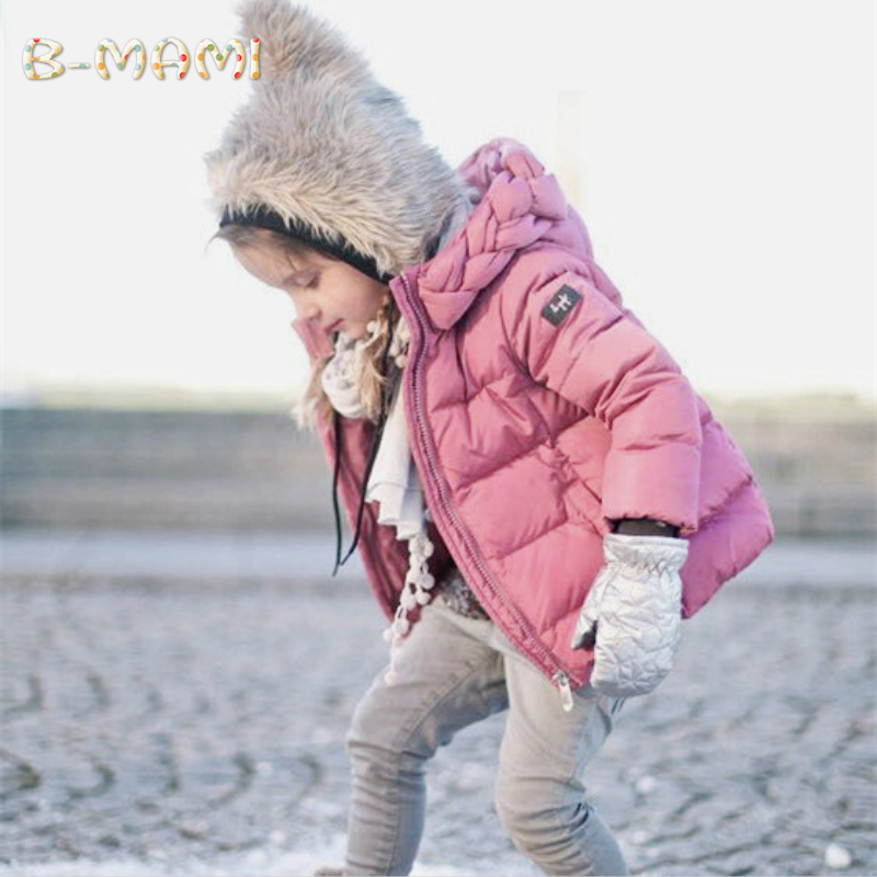 Girls winter jacket Child Girl down jackets Coat Parkas Hooded infant down jacket Kids Down Jackets