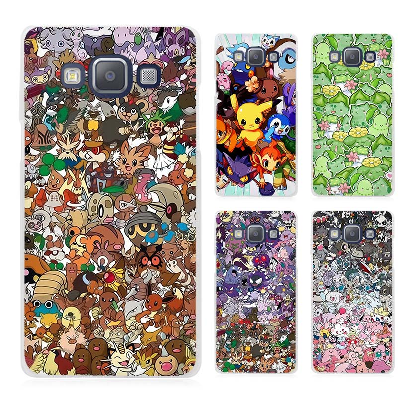 pokemons wallpaper art Clear Transparent Cell Phone Case Cover for Samsung Galaxy A3 A5 A7 A8 A9 2016 2017