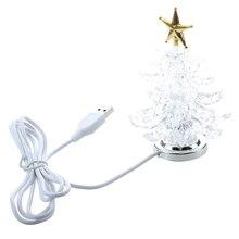 Новая миниатюрная Рождественская елка с питанием от USB с разноцветными светодиодами