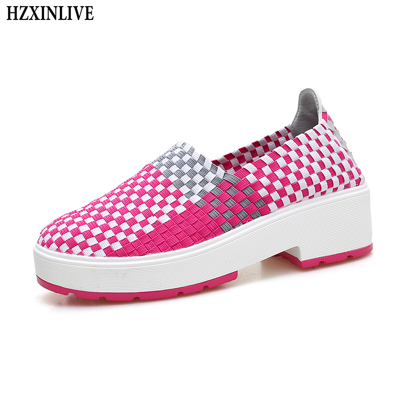 HZXINLIVE 2018 Fashion Flats Shoes Women Flexible Flat Braided Shoes for Women Ladies Summer Loafers Breathable Zapatos Mujer hzxinlive 2018 flat shoes women breathable flats shoes for women ladies casual platform female fashion summer sneakers footwear