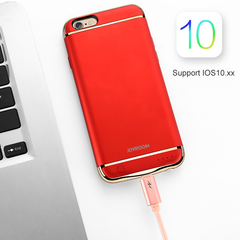Rechargeable External Backup Battery Case For iPhone 6 6S 7 Plus Power Bank for iPhone 6 6s 7 Phone Battery Charger Case Cover in Battery Charger Cases from Cellphones Telecommunications