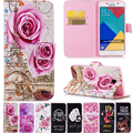 Livro de arte pintadas virar capa carteira de couro soft case com corda para samsung galaxy a3 a5 a7 j1 j3 j5 j7 6 2015 2016 j120 j320