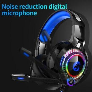 Image 2 - 7,1 Sound PS4 Gaming Headset casque Wired PC Stereo Kopfhörer Kopfhörer mit Mikrofon für Neue Xbox/Laptop Tablet Gamer