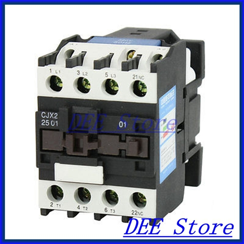 35mm DIN Rail Mounted 3P+1NC 380V Coil 25A AC Contactor CJX2-2510 35mm din rail mounted 3p 1no 380v coil 25a ac contactor cjx2 2510