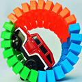 56pcs Race Track + 1 Car Random Color Car Toy  Electric Train Car Racing Track Assembly Puzzle Kid Toy Children Birthday Gift