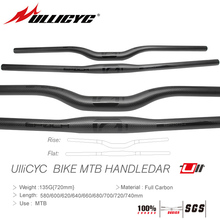 HOT SALE Ullicyc Mountain Bike Part 3K Full Carbon Handlebar (Flat/Rise) 31.8*580/600/620/640/660/680/700/720/740mm free ship