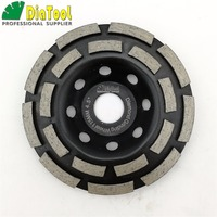 4 5 115mm Diamond Double Row Grinding Cup Wheel For Granite And Hard Material Bore 22