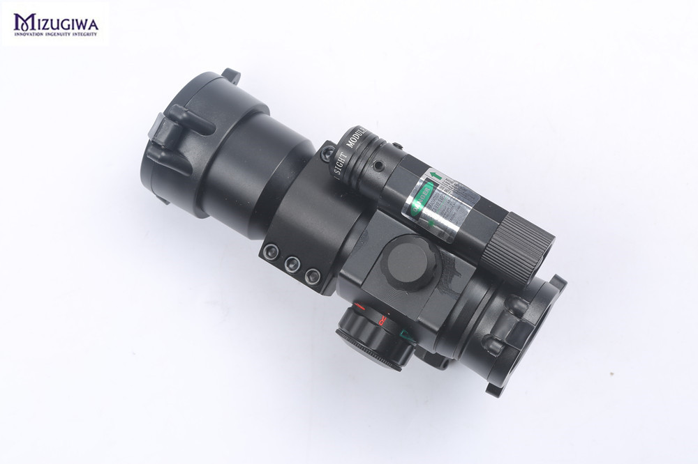 Mizugiwa 1X30 Green and Red Dot Riflescope Optics Sight Scope Holographic with 21mm Weaver/Picatinny Rail for Rifle Gun Airsoft vector optics rayman 1x30 tactical 21mm weaver rise mount red laser gun reflex red dot sight scope