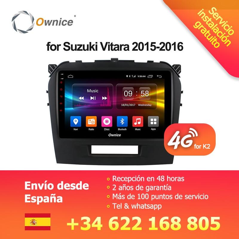 Ownice C500 + G10 HD1024 * 600 Android 8.1 Huit Core Voiture Radio DVD GPS Navi Lecteur dvd pour Suzuki vitara 2015 2016 2g RAM 32 gb ROM