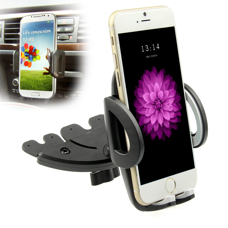 Universal 360 rotate Smart Phone GPS Car CD Slot Dock Dash Mount Stand Holder for iphone 5 5s 6 6s 7 8 X plus para celular gps