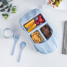 Bamboo fiber childrens plate creative bowl baby food tableware set Children Food Container kitchen tools