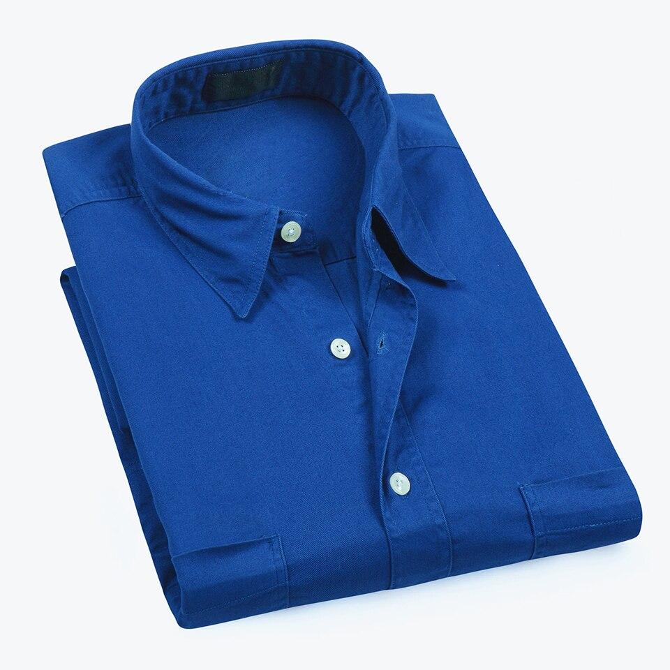 US Size Men Summer Business Casual Classic Cotton Shirts Men Oxford Short Sleeve Relaxed Fit Woven Easy Care Dress Shirts Men мужские кожанные куртки с косой молнией