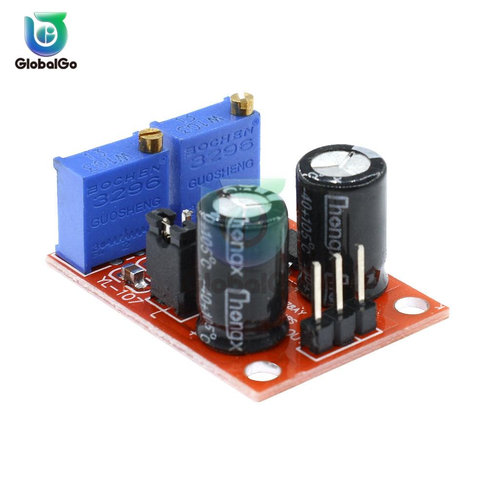 NE555 מתכוונן תדר דופק גנרטור מודול מנוע צעד כונן לוח לarduino חכם רכב כיכר גל אות שליטה