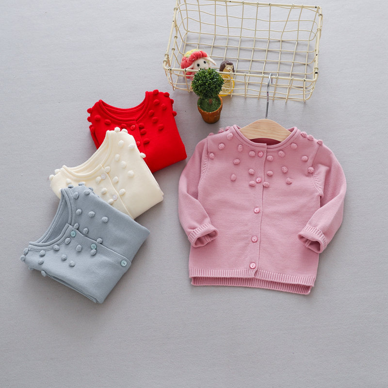 Casual-Autumn-Children-Girls-Cardigan-Baby-Infants-Long-Sleeve-Balls-Outwear-Knitting-Knitwear-Sweater-Camisola-Casaco-MT1338-1