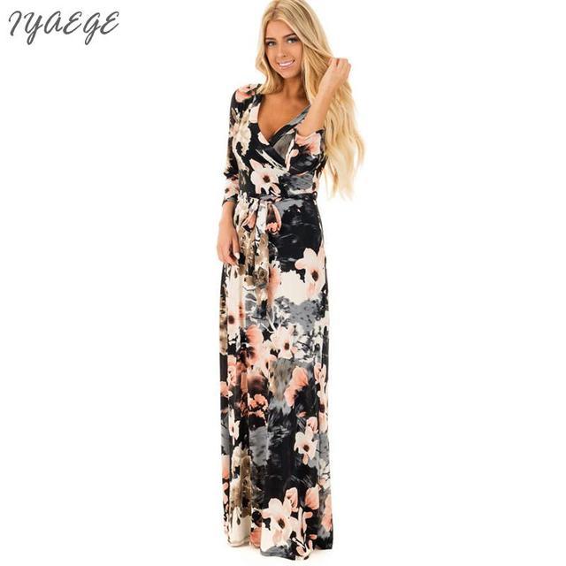 Aliexpress Buy Casual Woman Floral Wrap Dress Women Cotton