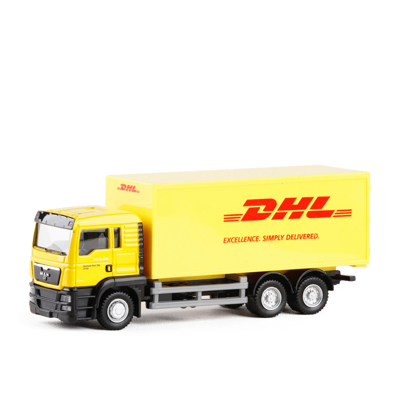 High Simulation RMZ city 1:64 Diecasts & Toy Vehicles <font><b>Car</b></font> Styling MAN Container Truck Alloy Truck <font><b>Model</b></font> kids Gift Pull Back Toys image