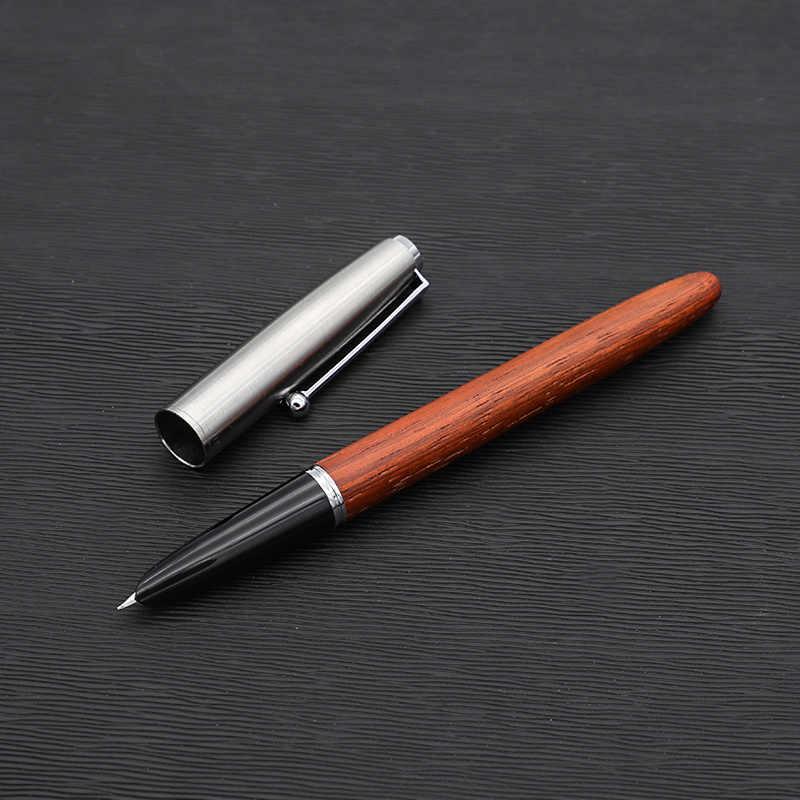 Zremastered klasyczne drewno wieczne pióro 0.38mm bardzo cienkie stalówka kaligrafia długopisy Jinhao 51A biurowe biurowe szkolne a0994