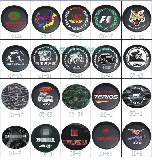 Factory direct sale! Cheetah auto cross-country PU spare tire cover custom 14