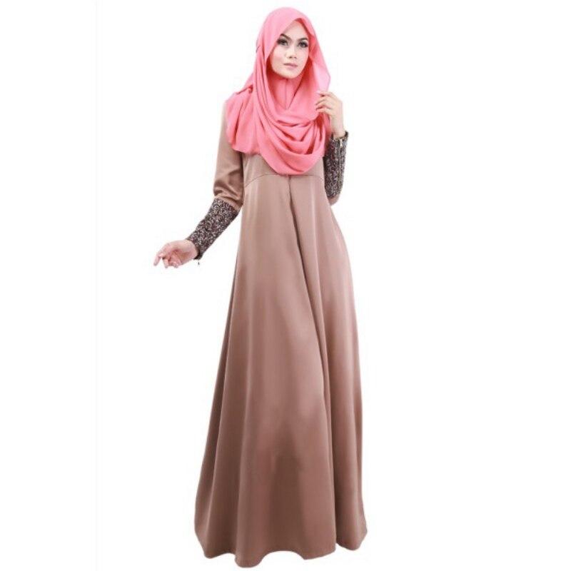 c956f98c5b87 Women Lady Vestidos Party Dresses Solid Kaftan Abaya Islamic Apparel Vogue  Muslim Long Sleeve Maxi Dress Large Size Dress-in Dresses from Women's  Clothing ...