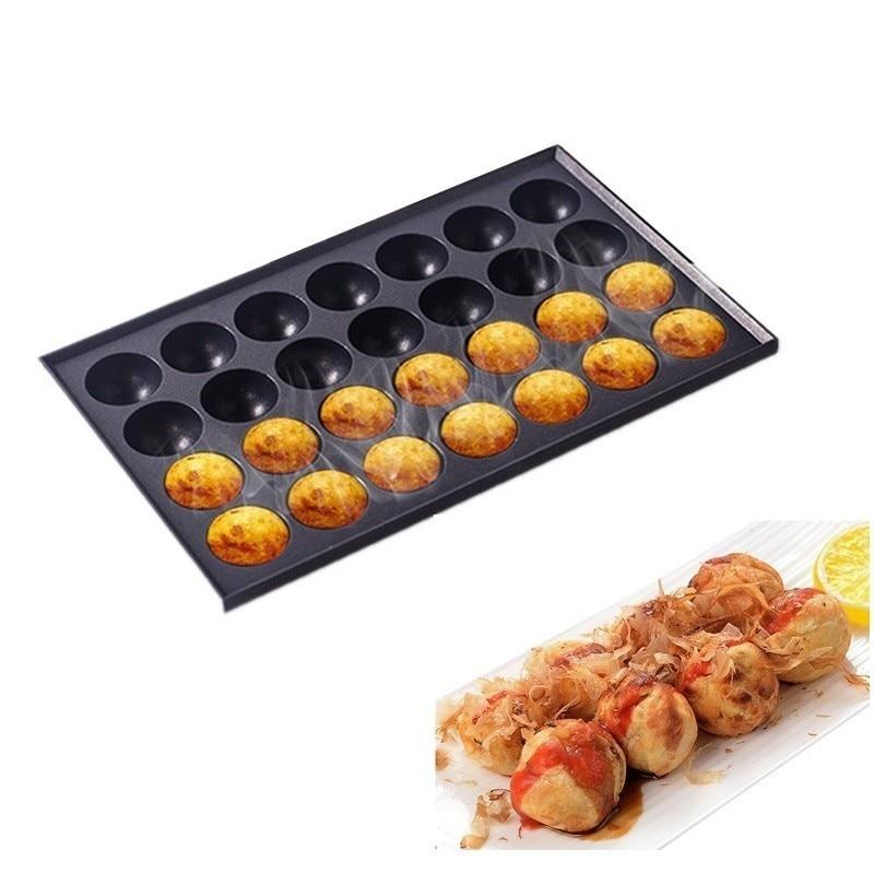 18 Holes / 28 Holes Commercial Takoyaki Machine Maker Nonstick Baking Pan Plate Cast Aluminum Octopus Ball Meatball Cooker Grill