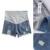 Pantalones Cortos de Mezclilla de Moda de Maternidad del verano Pantalones Vaqueros de Cintura Elástica Pantalones Cortos de Algodón Pantalones de Maternidad de Maternidad Para Las Mujeres Embarazadas FCI #