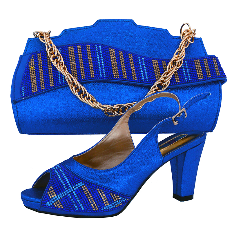 Purple low heel 3.5 inches fashion shoes and bag matching set onsales for african lace fabric royal blue party shoes bag SB8072 Purple low heel 3.5 inches fashion shoes and bag matching set onsales for african lace fabric royal blue party shoes bag SB8072