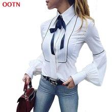 OOTN Blouses Bureau Femmes Arc Cravate M ...