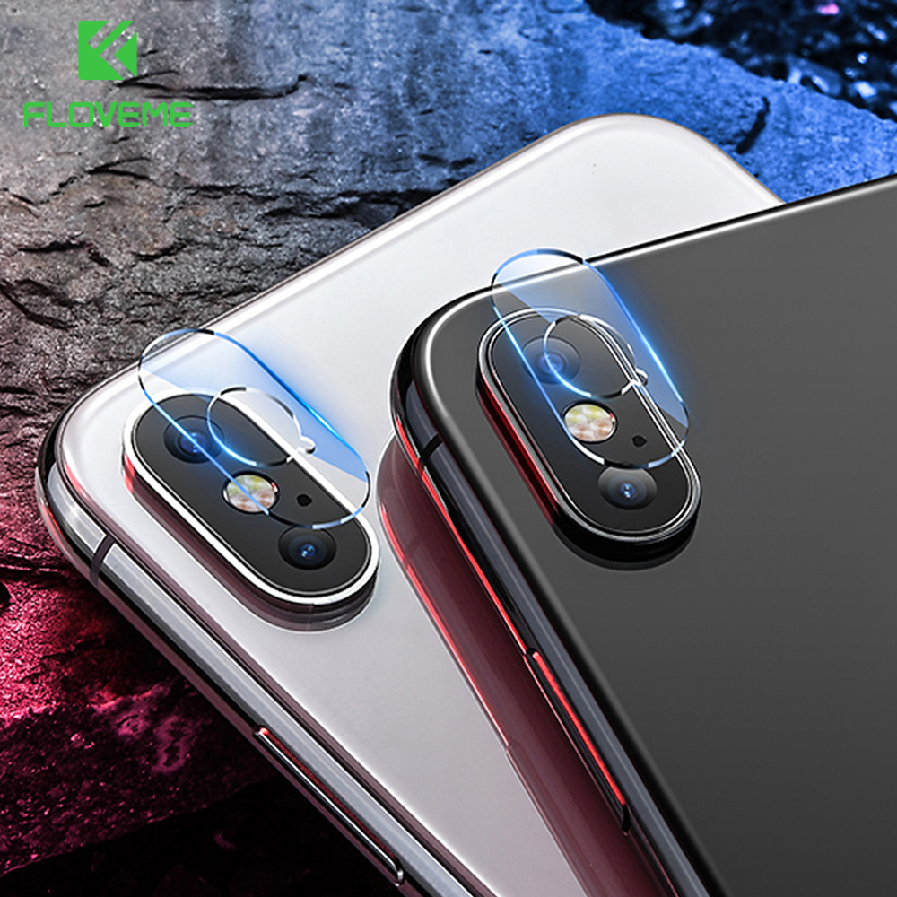 FLOVEME For iPhone Xs X Xs Max Camera Len Protector Tempered Glass Back Lens Film For Appl