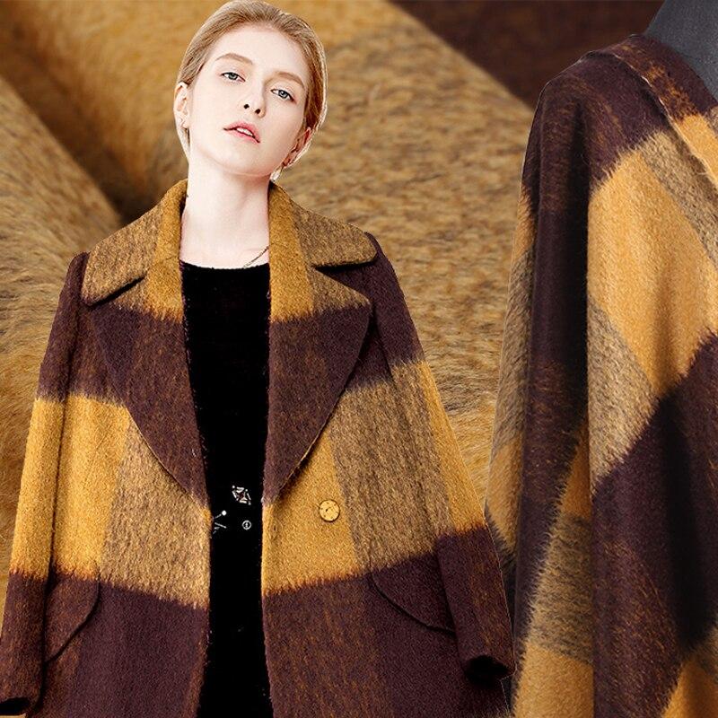 150 см в ширину 620 г/м окрашенная плотная ткань из мохера для осенне весеннего платья Верхняя одежда Пальто Куртка DE546