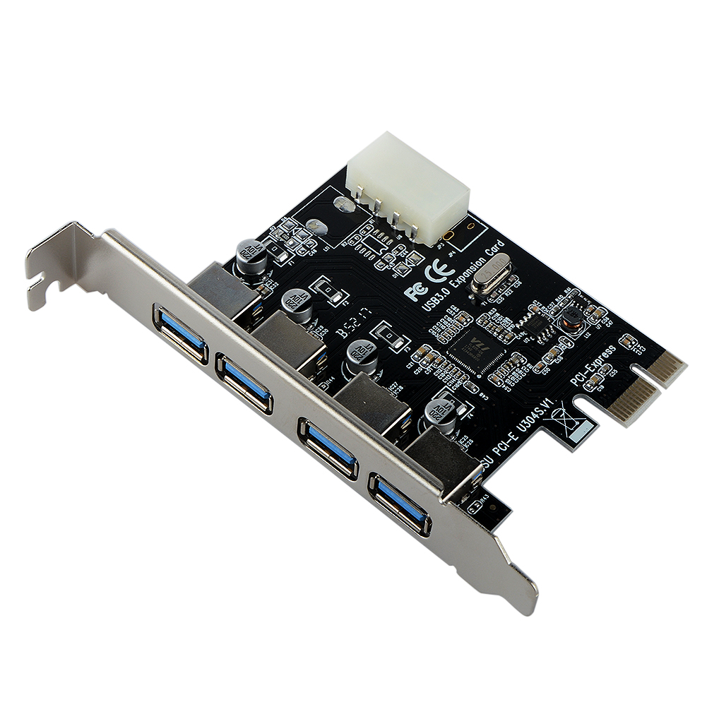 4 Port PCI-E to USB 3.0 HUB PCI Express Expansion Card Adapter 5 Gbps Speed For Desktop Computer Components 1pcs 4 port rs 232 serial port com to pci e pci express card adapter converter support pci 2 1 for computer pc desktop