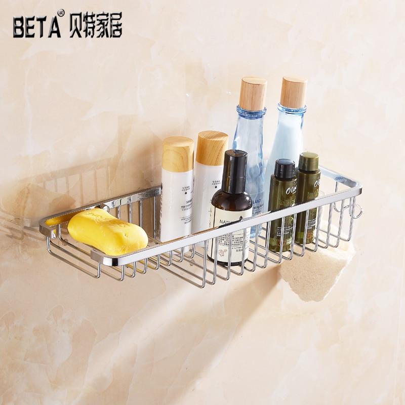 Sully House 304 Stainless Steel Bathroom Basket Shelf,Toilet Shower Shampoo Soap Cosmetic Shelves Accessorie Holder Rack hook
