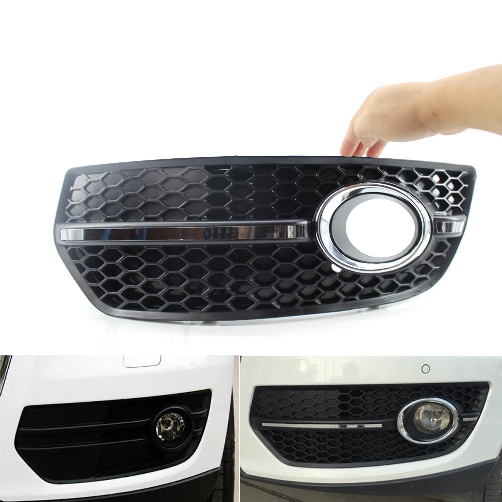 For Audi Q5 2009-2011 Front Bumper Grill Fog Light Lamp Covers Trim Black novline nlc 04 15 210 audi q5 01 2009 4 шт