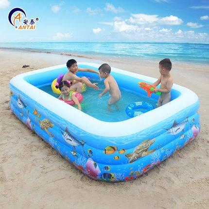 Детский надувной бассейн для младенцев и детей, домашний семейный большой аквапарк для взрослых, толстый большой мягкий бассейн, уплотненн