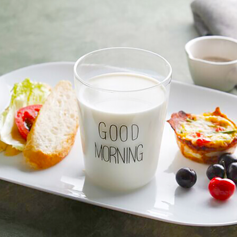 Good Morning Style Handmade Glass Cups Simple Morning Mugs SH114