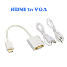 Raspberry pi 3 HDMI to VGA converter adapter with 3.5mm audio cable and external power supply HD for PC Laptop to HDTV Monitor