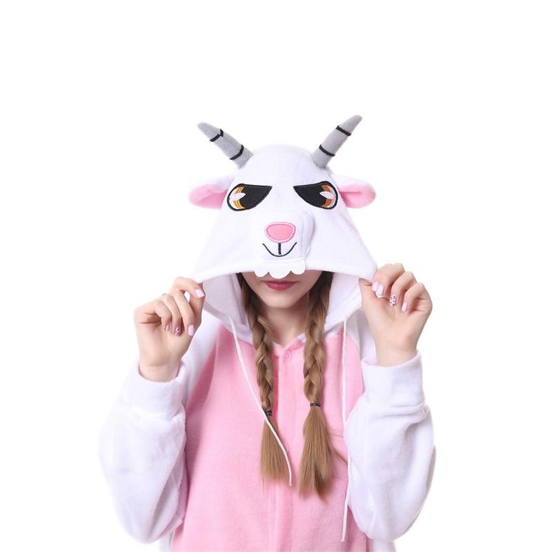 Animal jaune éléphant Kigurumi pour adulte pyjamas polaire polaire Onesie pour Halloween une-pièce combinaison siamois Cosplay Custome - 6