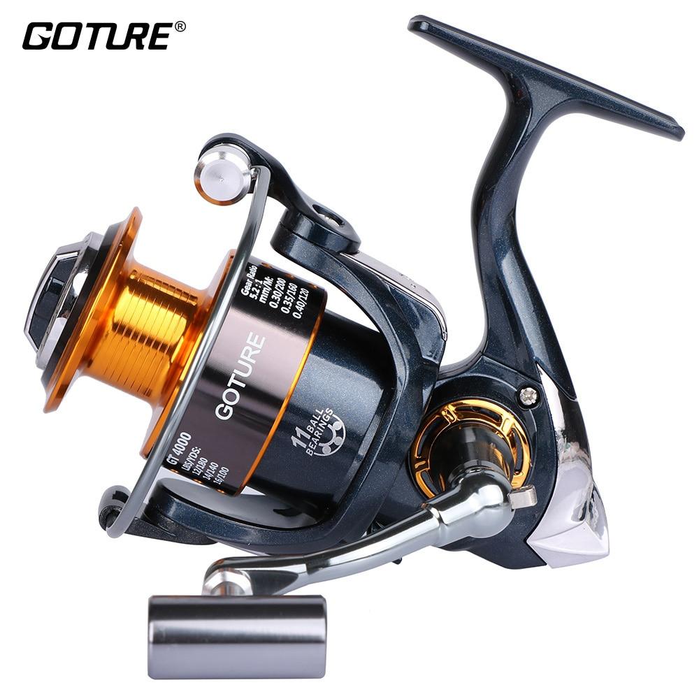 Goture brand original 5 2 1 metal coil spinning fishing for Carp fishing reels