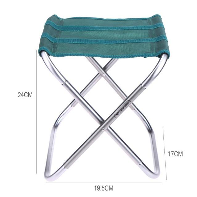 Aluminum Alloy Oxford Cloth Folding Fishing Chair Portable Outdoor Foldable Sitting Stool Camping Picnic Seat