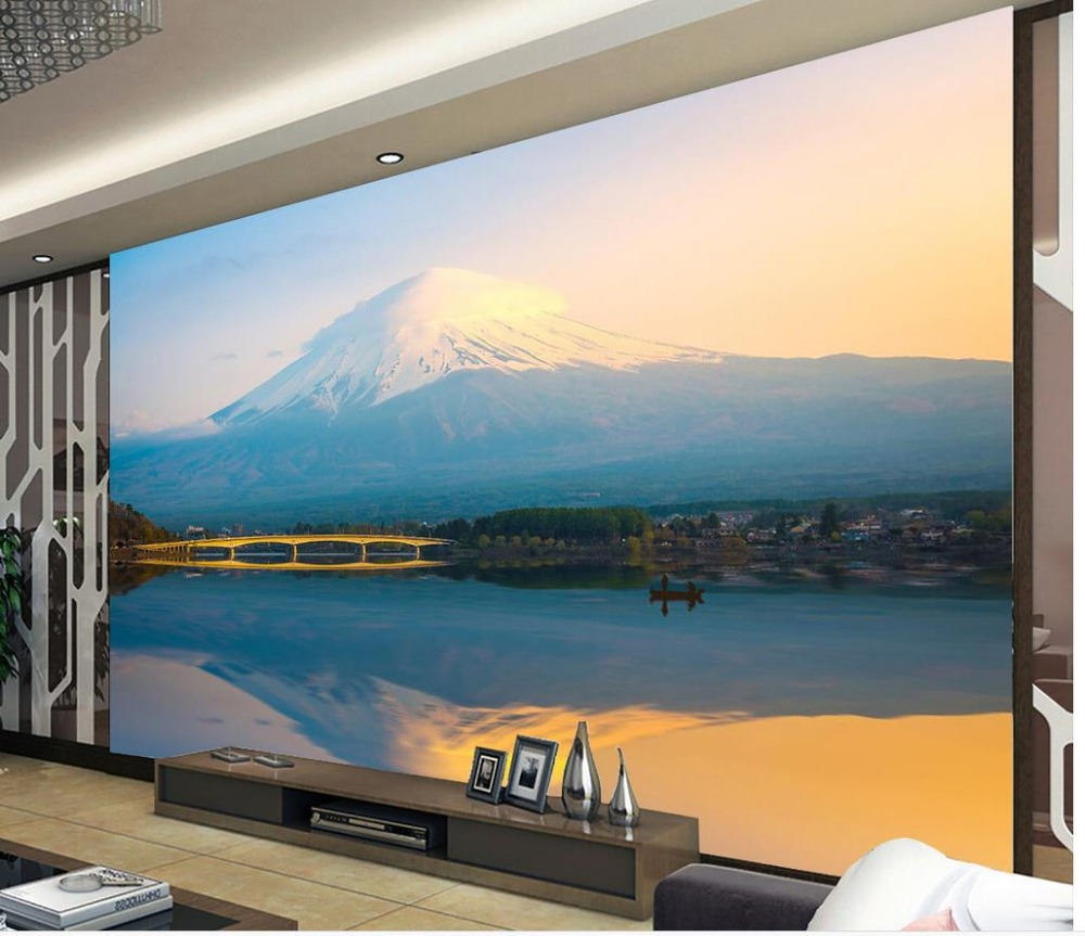 Benutzerdefinierte 3d wandbild tapete Fuji Landschaft Foto tapete ...