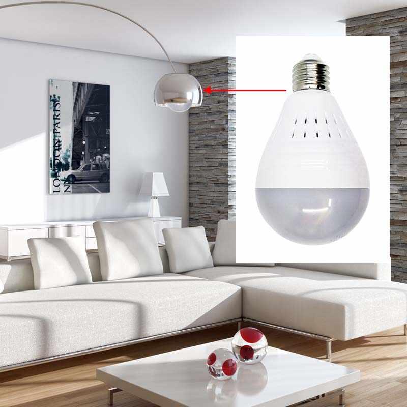 Wdskivi лампа Беспроводная ip-камера ИК-подсветка панорамная видеокамера 360 градусов рыбий глаз Домашняя безопасность CCTV Wi-Fi камера системы безопасности режим Ap