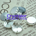 Free Shipping 4Holes Round claw setting for Rivoli crystal beads 8mm~20mm metal claw silver color