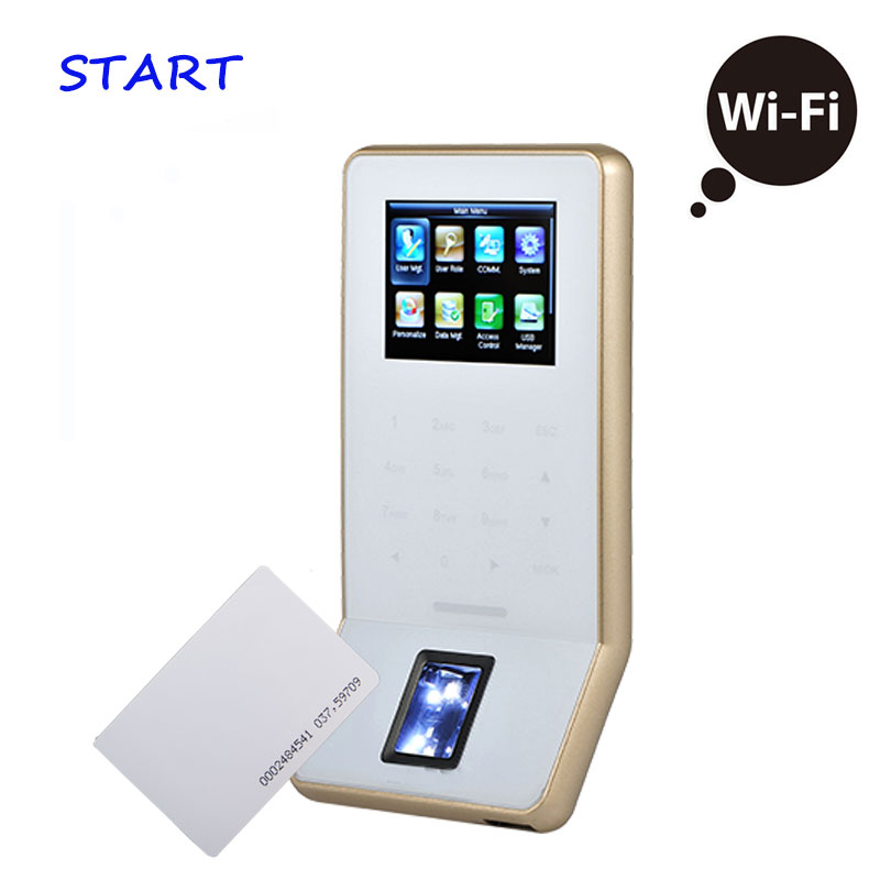 Free Shipping ZK F22 ZK Biometric Fingerprint Time Attendance With 125KHZ RFID Card Reader Door Access Control System With WIFI