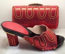 Fashion Italian Shoes with Matching bags For Party african Shoes And Bags Set for Wedding shoe