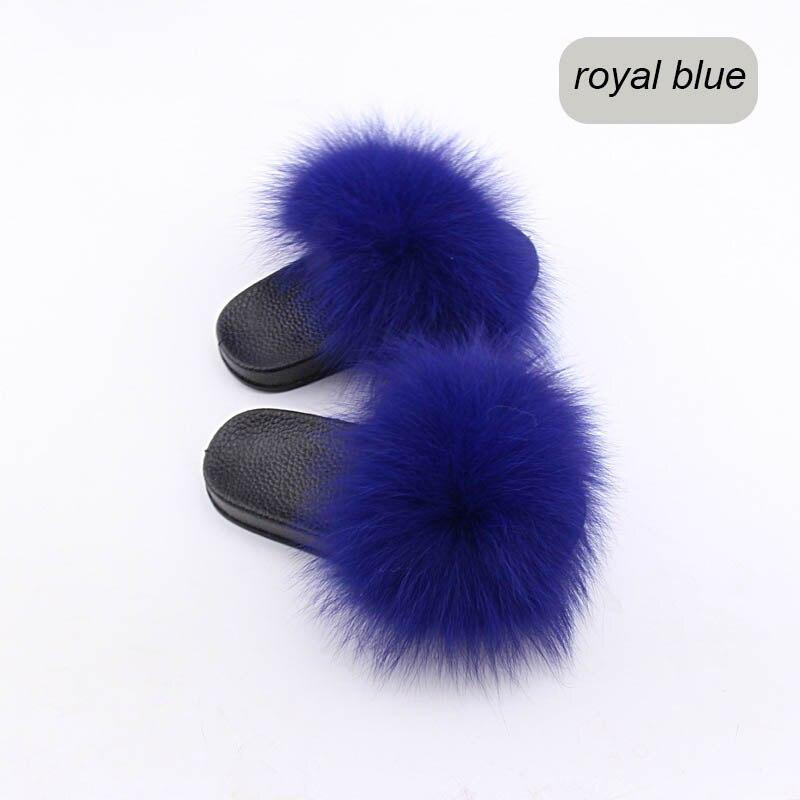 children slippers fox fur (26)