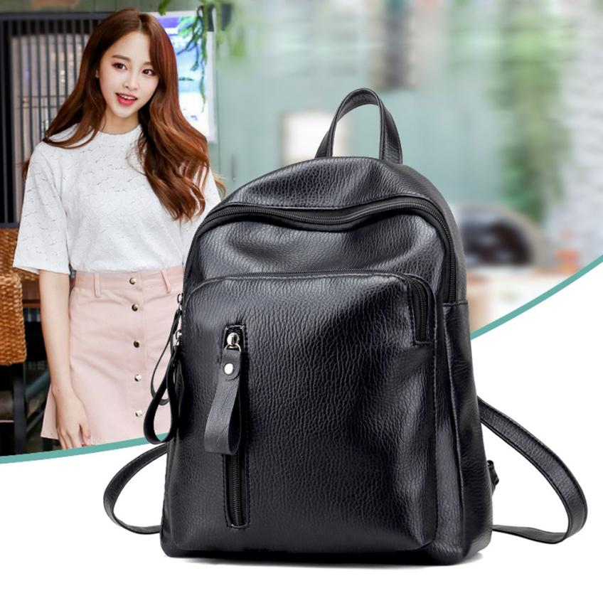 MOLAVE Backpacks new high quality leather Striae fashion Travel Backpack Leisure Student Soft Bag backpack women mar23