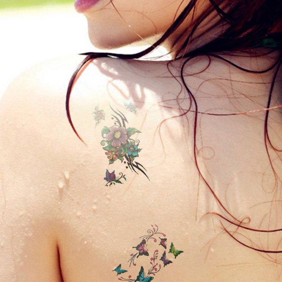 10pcs temporary tattoos waterproof beautiful flowers tattoo kit men 10pcs temporary tattoos waterproof beautiful flowers tattoo kit men and women beauty body tattoo art 3d izmirmasajfo