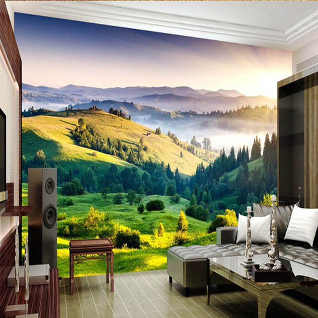 3d Window Mountain View Stereoscopic Picture Wallpaper