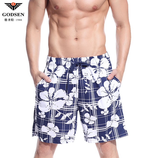Free shipping Male casual summer shorts plus size cotton sports casual print knee-length pants beach pants